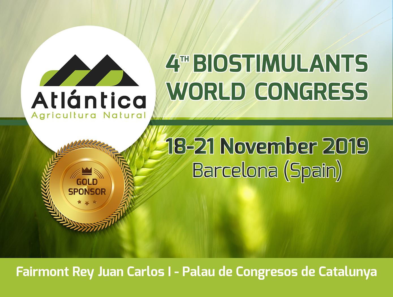 Atlántica Agrícola patrocina el 4º Congreso Mundial de Bioestimulantes (4th World Biostimulants Congress)